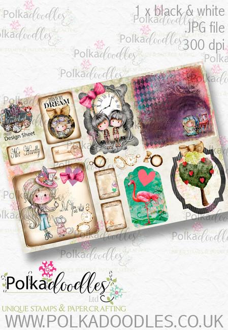 Winnie Wonderland Design Sheet 3 - Printable Digital download