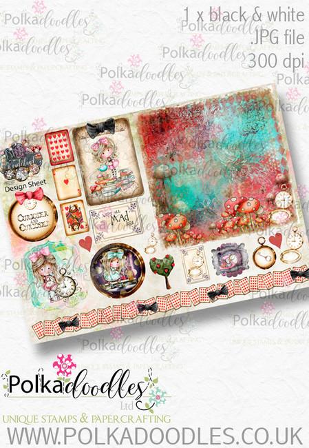 Winnie Wonderland Design Sheet 5 - Printable Digital download