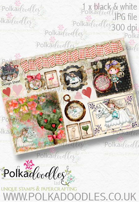 Winnie Wonderland Design Sheet 4 - Printable Digital download