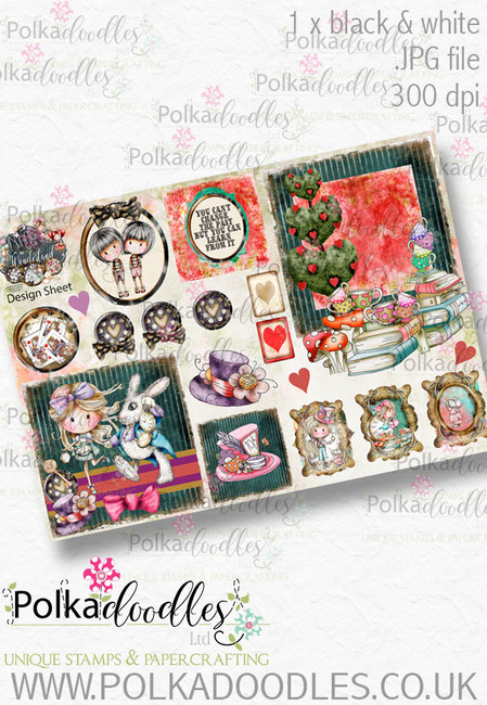 Winnie Wonderland Design Sheet 8 - Printable Digital download