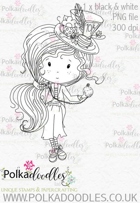 Winnie Wonderland time is running out - Printable Digital stamp download