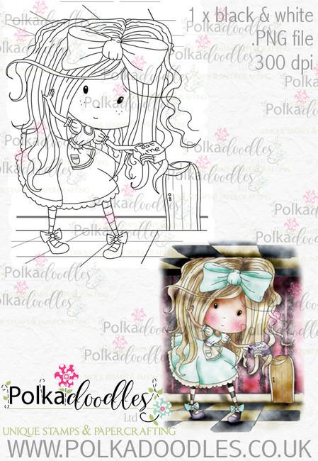 Winnie Wonderland Eat Me - Printable Digital stamp download