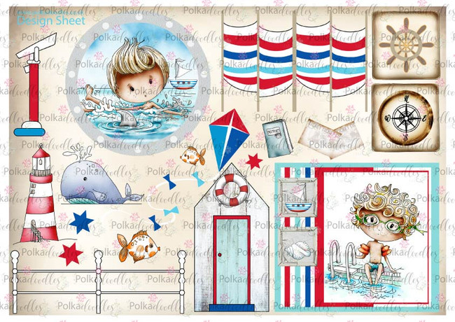 Winnie Starfish/Sandcastles Design Sheet 4 DOWNLOAD