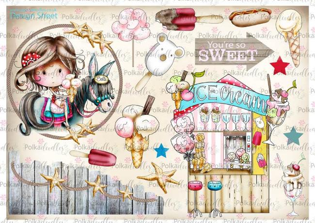 Winnie Starfish/Sandcastles Design Sheet 3 DOWNLOAD