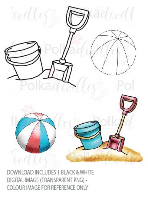 Winnie Starfish/Sandcastles - Ball/Bucket & Spade DOWNLOAD