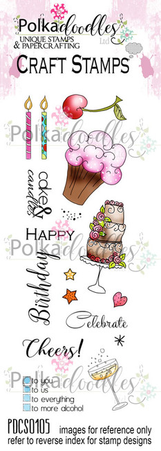 Celebrations Clear Stamp set