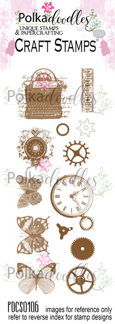 Absolute Vintage Clear Stamp set
