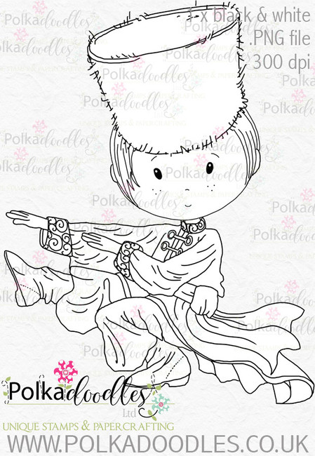 Cossack Russian Dancer 1 - Digital Stamp Download