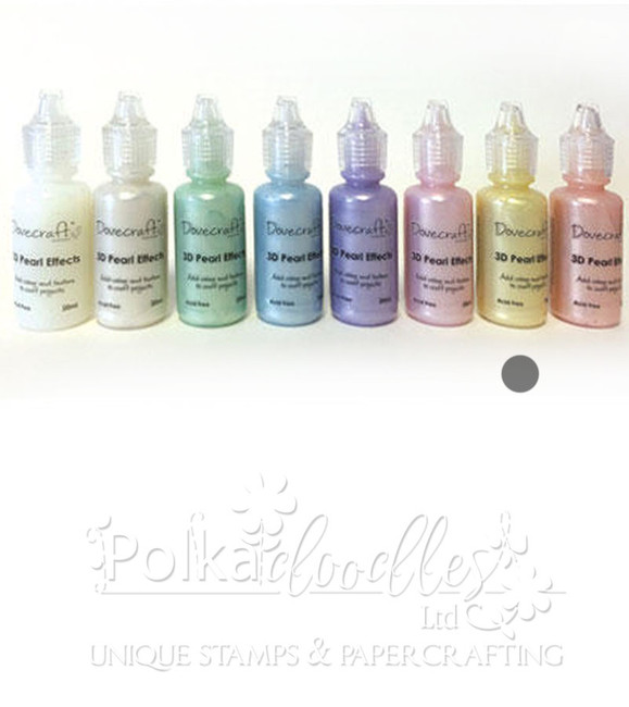 Pastel Lemon/yellow- Dovecrafts 3D Pearl Effects Glue 20ml