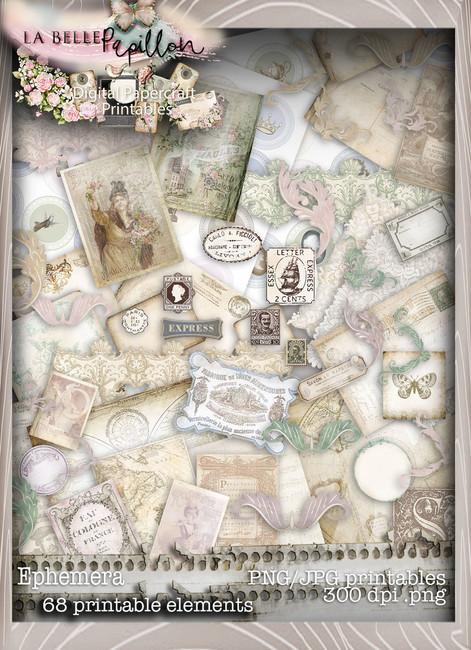 Belle Papillon Ephemera  - Download Printables