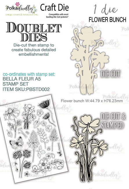 Flower Bunch'DOUBLET'  - Craft Cutting die