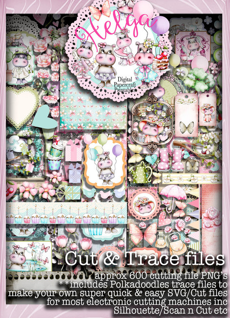 Helga Hippo Cutting Files download bundle