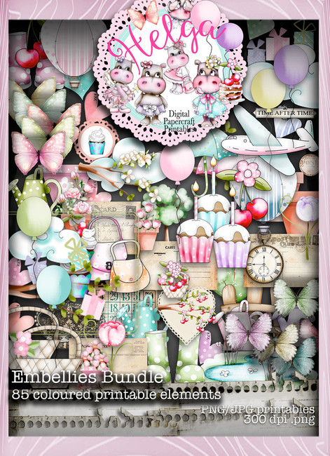 Helga Hippo Embellies download bundle