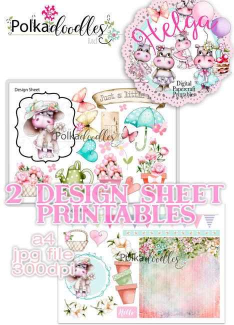 Helga Hippo - Design Sheet 2 Duo DOWNLOAD