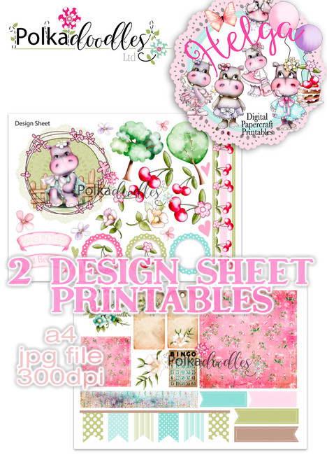 Helga Hippo - Design Sheet 6 Duo DOWNLOAD