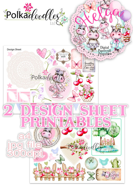 Helga Hippo - Design Sheet 8 Duo DOWNLOAD