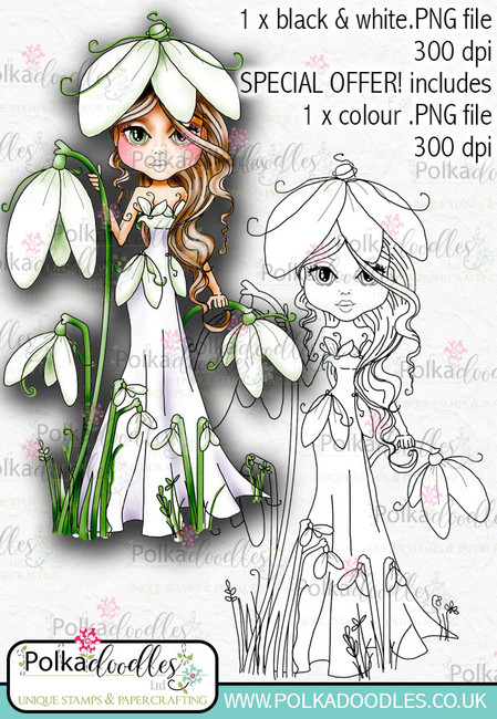 Snowdrop, The Darling Buds - Digital Craft Digi Stamp DOWNLOAD