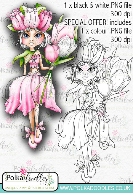 Tulip, The Darling Buds - Digital Craft Digi Stamp DOWNLOAD