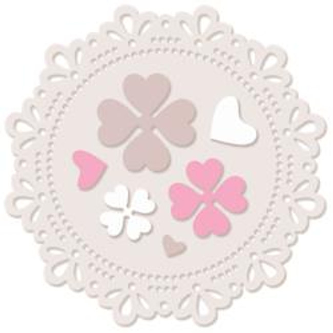 Dotty Doily - Large Die Set- Polkadoodles at Little Darlings/LDRS
