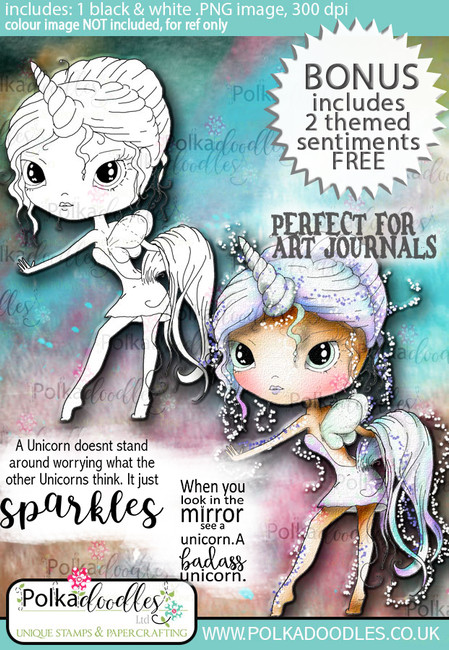 Ula Be a Unicorn- Life Journal craft digi download