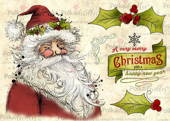 Christmas Santa Claus -  Clear Stamp Set