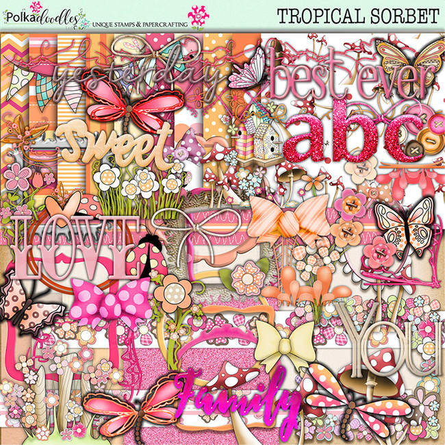 Tropical Sorbet download - digiscrap kit/craft download