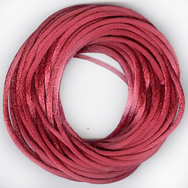 Burgundy red 2.5mm luxury Rats tail satin cord 1m