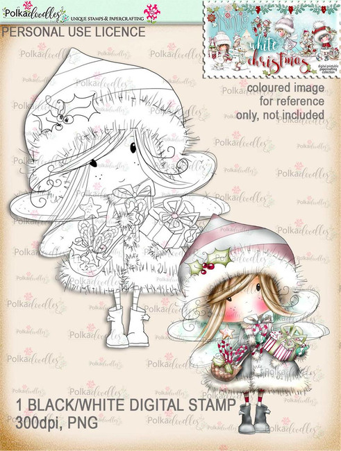 Fairy Gifts - Digital Stamp download. Winnie White Christmas printables.Craft printable download digital stamps/digi scrap
