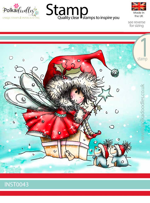 Winnie Penguin gifts - Winnie White Christmas Clear Polymer Stamp.