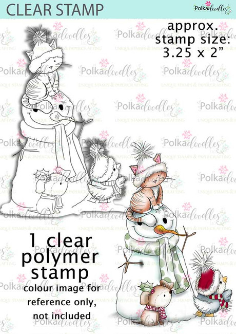 Snowman/cat/dog/penguin - Clear Stamp