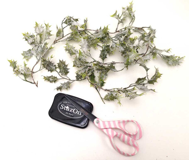 Frosted Holly adornments- Christmas Embellishments