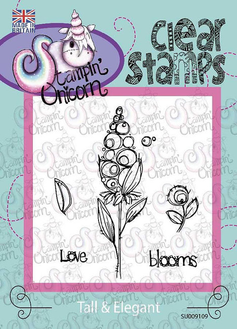 Tall and Elegant Flower - Clear Stamp Set by Stampin Unicorn