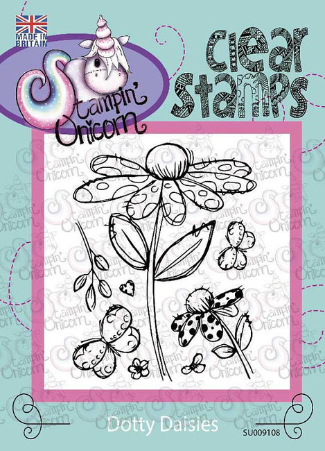 Dotty Daisies - Clear Stamp Set by Stampin Unicorn