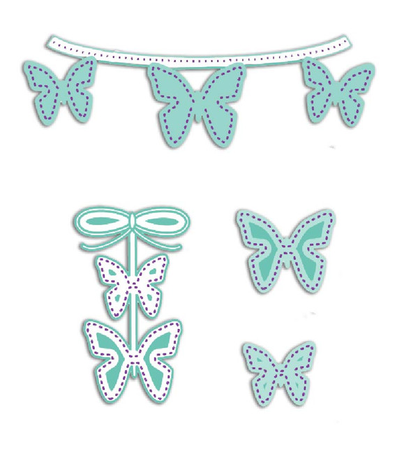 Dotted Wings die set by LDRS Creative