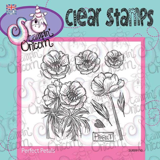 Perfect Petals - Clear Stamp Set by Stampin Unicorn