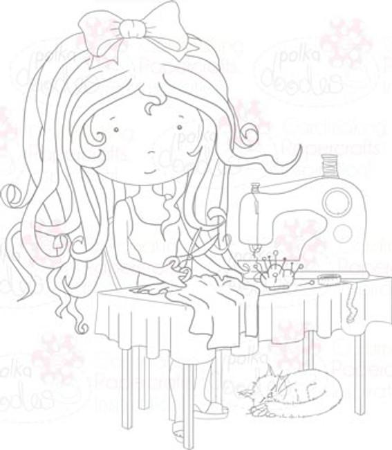 Alyce Sewing Digital Stamp download