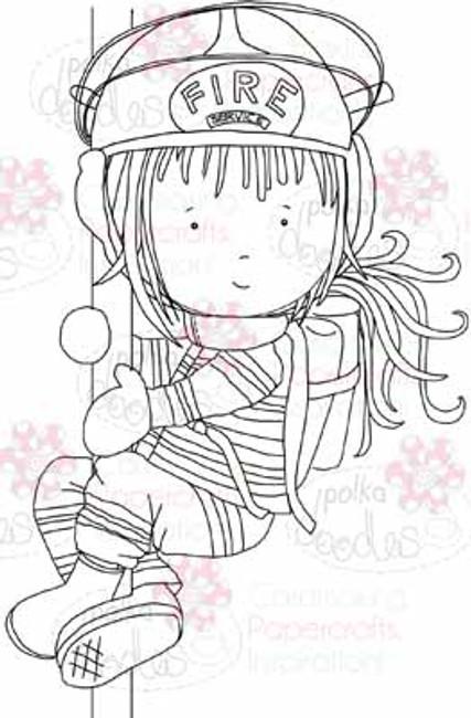 Firewoman Sadie digital stamp download