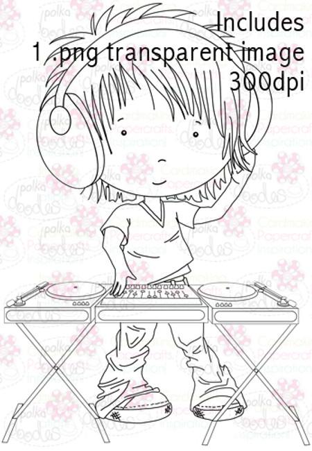 DJ digital stamp download