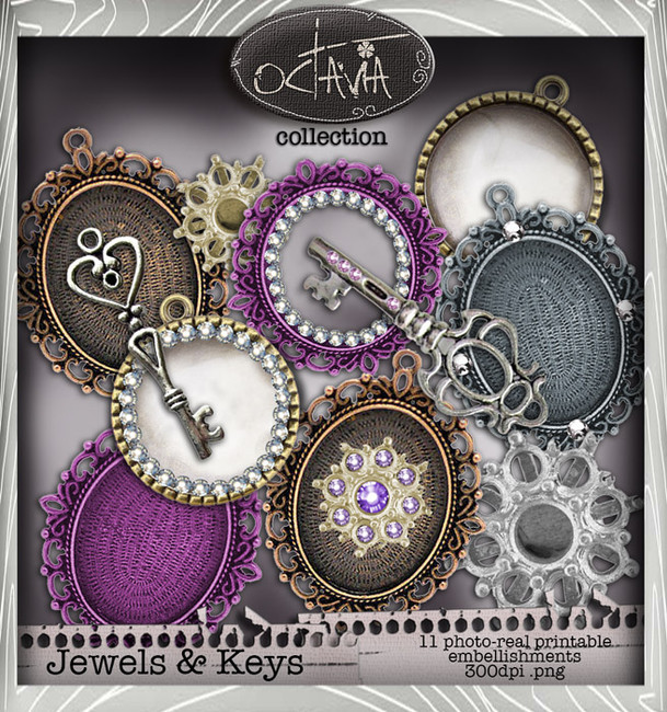 Octavia Moonfly - Jewelicious Digital Craft Download Bundle