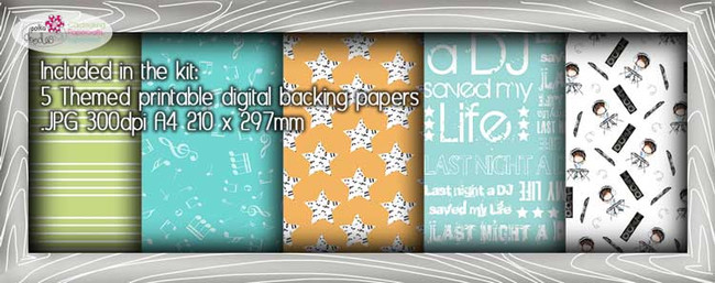 DJ Theme Paper Craft download