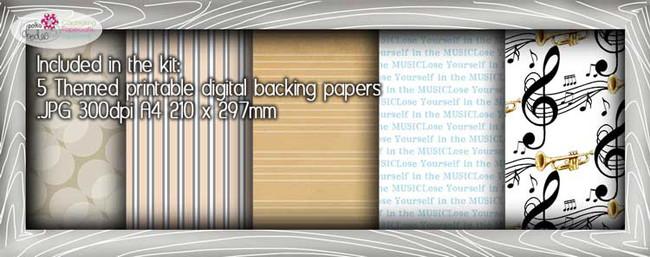 Trumpet/Music Theme Paper Craft download