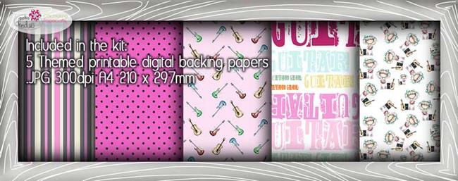 Guitar Girl Theme Paper Craft download