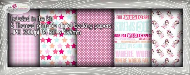 Opera Girl Theme Paper Craft download