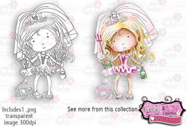 Hen/Bridal Shower/Bachelorette Digital Craft Stamp download