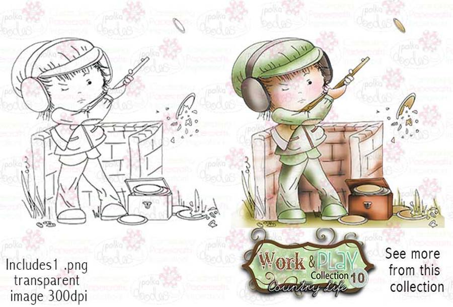 Clay Pigeon Digital Stamp - Work & Play 10 Digital Craft Download