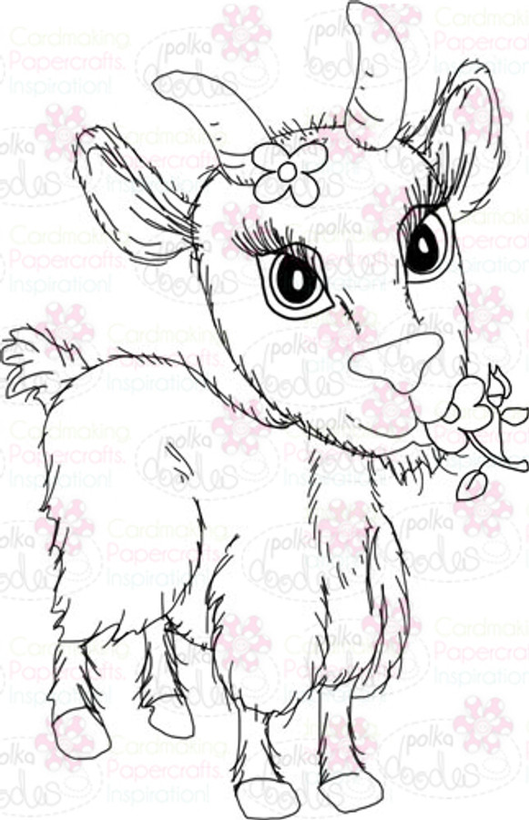 Goat Digital Stamp - Digital Craft Download