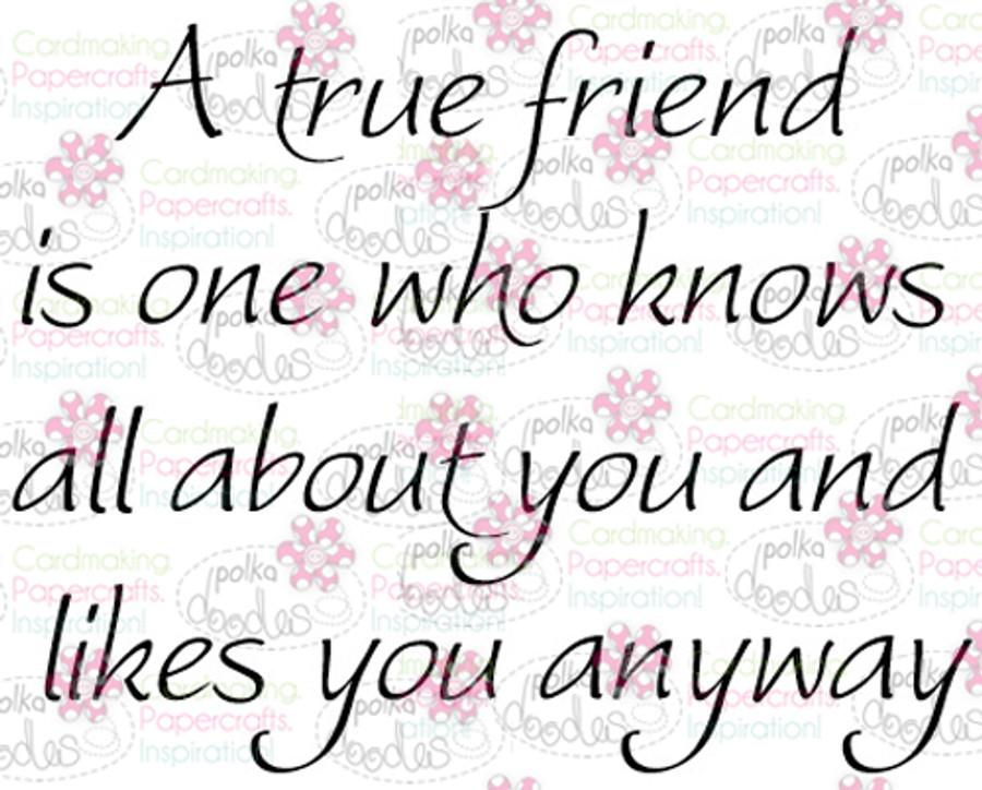 True Friend sentiment downloadable digital stamp