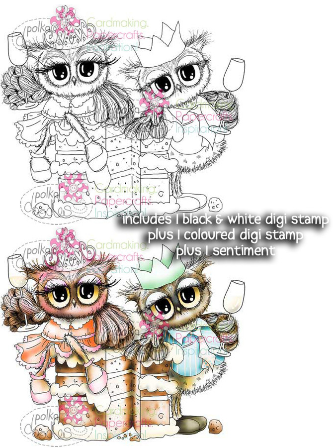 Cake Time - Twiggy & Toots - Digital Stamp Craft Download