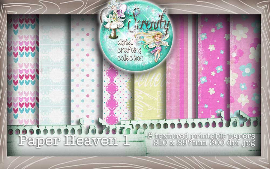 Serenity Fairy Wishes Paper Heaven 1 - Digital Craft download bundle