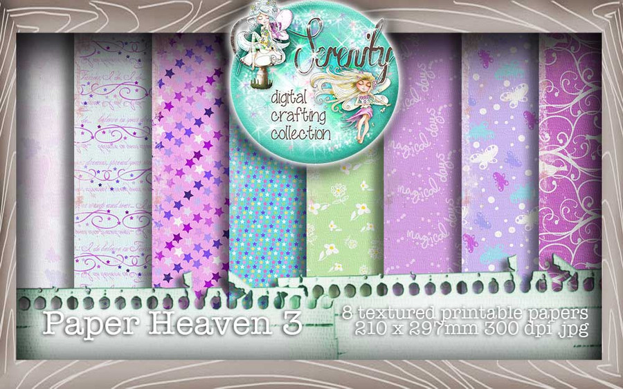 Serenity Fairy Wishes Paper Heaven 3 - Digital Craft download bundle